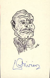 LAURENCE OLIVIER - CARICATURE SIGNED