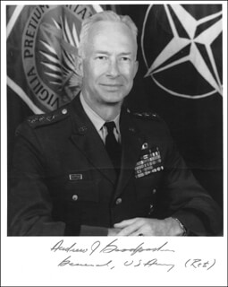 GENERAL ANDREW J. GOODPASTER - AUTOGRAPHED SIGNED PHOTOGRAPH
