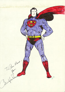 CHRISTOPHER REEVE - INSCRIBED SKETCH SIGNED