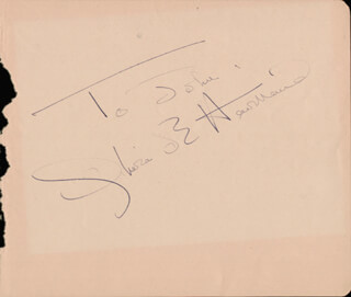 OLIVIA DE HAVILLAND - INSCRIBED SIGNATURE