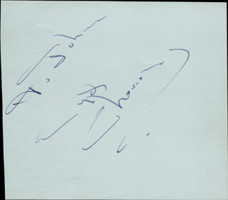 CYD CHARISSE - INSCRIBED SIGNATURE