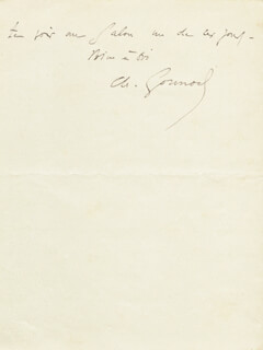 CHARLES GOUNOD - AUTOGRAPH LETTER SIGNED CIRCA 1866
