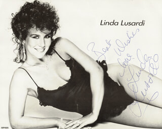 LINDA LUSARDI - AUTOGRAPHED SIGNED PHOTOGRAPH
