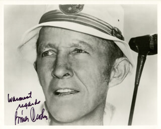 BING CROSBY - AUTOGRAPHED SIGNED PHOTOGRAPH