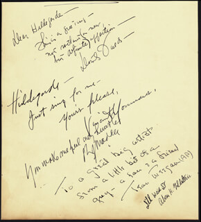 DOROTHY FIELDS - AUTOGRAPH NOTE SIGNED CO-SIGNED BY: VINCENT MILLER YOUMANS, EMERSON FOOTE