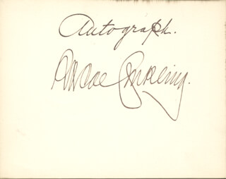 ROSCOE CONKLING - AUTOGRAPH  - HFSID 67387
