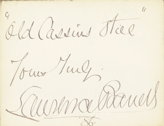Autographs: LAWRENCE BARRETT - AUTOGRAPH QUOTATION SIGNED 1886