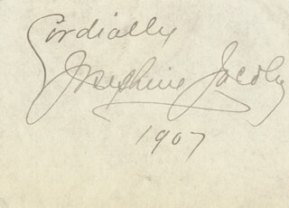 JOSEPHINE JACOBY - AUTOGRAPH STATEMENT SIGNED 1907