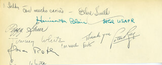 ETHEL SMITH - AUTOGRAPH CO-SIGNED BY: PEGGY GREER, TOMMY WHITE, PETER ROTH, LT. COLONEL HARRISON P. BLAIR
