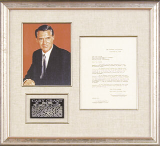 CARY GRANT - CONTRACT SIGNED 11/20/1939