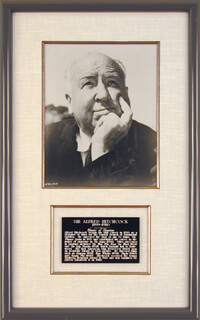 ALFRED HITCHCOCK - AUTOGRAPHED SIGNED PHOTOGRAPH