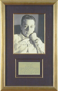 GEORGE RAFT - AUTOGRAPHED SIGNED PHOTOGRAPH