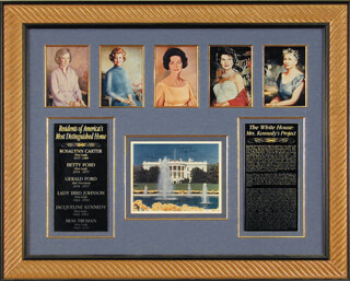 PRESIDENT GERALD R. FORD - AUTOGRAPHED SIGNED PHOTOGRAPH CO-SIGNED BY: FIRST LADY BETTY FORD, FIRST LADY LADY BIRD JOHNSON, FIRST LADY JACQUELINE B. KENNEDY, FIRST LADY ROSALYNN CARTER, FIRST LADY BESS W. TRUMAN