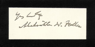 Autographs: CHIEF JUSTICE MELVILLE W. FULLER - AUTOGRAPH SENTIMENT ON SUPREME COURT CARD SIGNED
