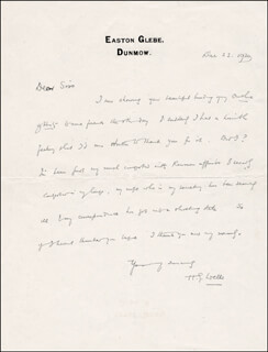 H. G. WELLS - AUTOGRAPH LETTER SIGNED 12/23/1920