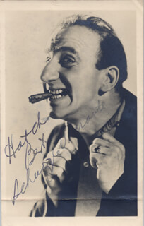 JIMMY SCHNOZZOLA DURANTE - PICTURE POST CARD SIGNED