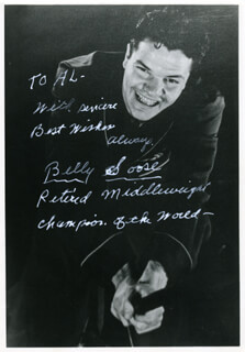 BILLY SOOSE - AUTOGRAPHED INSCRIBED PHOTOGRAPH