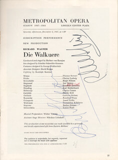 BIRGIT NILSSON - PROGRAM SIGNED CIRCA 1967 CO-SIGNED BY: CHRISTA LUDWIG