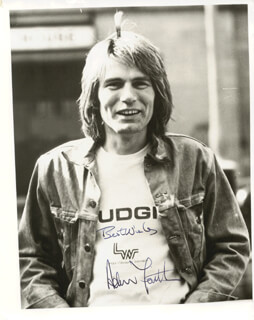 ADAM FAITH - AUTOGRAPHED SIGNED PHOTOGRAPH