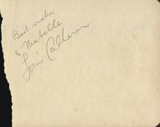 Autographs: LOUIS CALHERN - AUTOGRAPH NOTE SIGNED