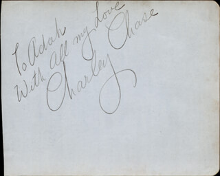CHARLEY CHASE - AUTOGRAPH NOTE SIGNED
