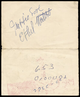 ETHEL WATERS - AUTOGRAPH SENTIMENT SIGNED