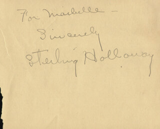 STERLING HOLLOWAY - AUTOGRAPH NOTE SIGNED