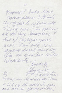 HARRY WIERE - AUTOGRAPH LETTER SIGNED 09/10/1987