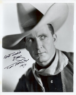 TIM McCOY - AUTOGRAPHED SIGNED PHOTOGRAPH 1977
