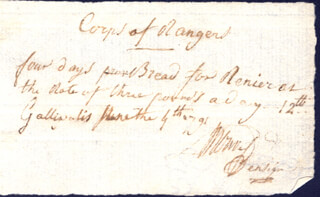 Autographs: JOHN H. BUELL - AUTOGRAPH DOCUMENT SIGNED 06/04/1791
