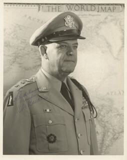 Autographs: LT. GENERAL ANDREW DAVIS BRUCE - INSCRIBED PHOTOGRAPH SIGNED