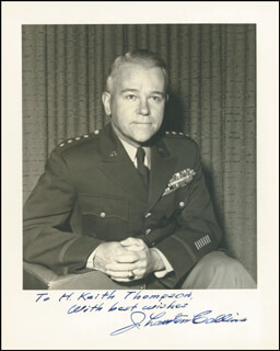 GENERAL J. LAWTON COLLINS - AUTOGRAPHED INSCRIBED PHOTOGRAPH