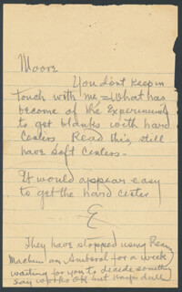 THOMAS A. EDISON - AUTOGRAPH NOTE SIGNED