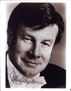 JOHN ALEXANDER - AUTOGRAPHED SIGNED PHOTOGRAPH