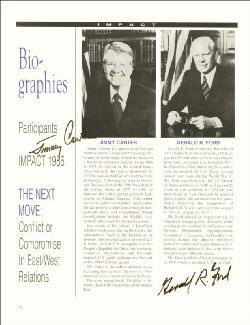 PRESIDENT JAMES E. JIMMY CARTER - BIOGRAPHY SIGNED 1986 CO-SIGNED BY: PRESIDENT GERALD R. FORD