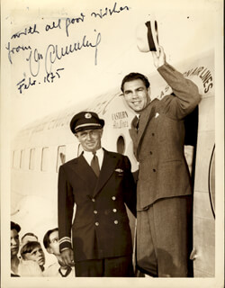MAX SCHMELING - AUTOGRAPHED SIGNED PHOTOGRAPH 2/1975