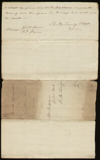 Autographs: CHIEF JUSTICE ROGER B. TANEY - AUTOGRAPH DOCUMENT DOUBLE SIGNED