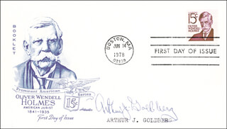 Autographs: ASSOCIATE JUSTICE ARTHUR J. GOLDBERG - FIRST DAY COVER SIGNED