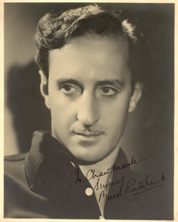 BASIL RATHBONE - AUTOGRAPHED INSCRIBED PHOTOGRAPH