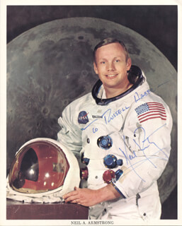 NEIL ARMSTRONG - INSCRIBED PRINTED PHOTOGRAPH SIGNED IN INK - HFSID 67965
