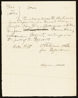 DAVID R. ATCHISON - AUTOGRAPH DOCUMENT SIGNED CO-SIGNED BY: RENBROW RIGGS, WILLIAM MILSAPS