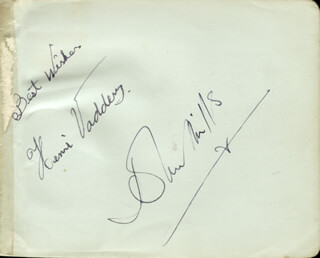SIR JOHN MILLS - AUTOGRAPH CO-SIGNED BY: JACK DOYLE, MOVITA CASTANEDA, HENRI VADDER
