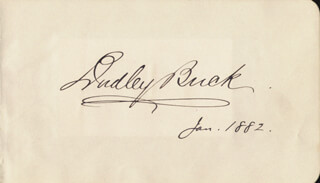 DUDLEY BUCK - AUTOGRAPH 1/1882 CO-SIGNED BY: GEORGE RIGNOLD