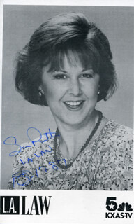 SUSAN RUTTAN - PRINTED PHOTOGRAPH SIGNED IN INK 10/17/1987