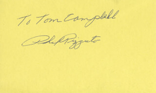 PHIL RIZZUTO - INSCRIBED SIGNATURE
