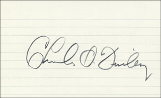 CHARLES O. CHARLEY O FINLEY - AUTOGRAPH