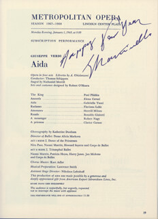 GIOVANNI MARTINELLI - PROGRAM SIGNED 01/01/1968