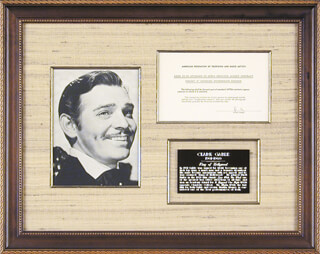 CLARK GABLE - DOCUMENT SIGNED