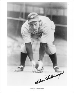 CHARLIE GEHRINGER - AUTOGRAPHED SIGNED PHOTOGRAPH