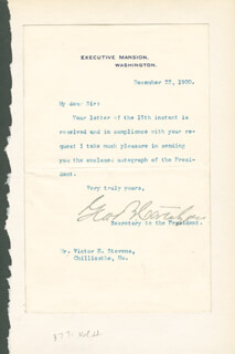 GEORGE B. CORTELYOU - TYPED LETTER SIGNED